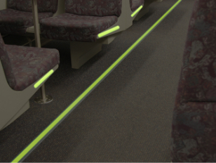 Photo luminescent markers for bus floors - Firefly Glow