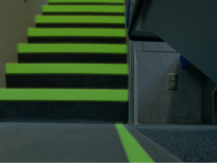 Photo luminescent stair markers - Firefly Glow