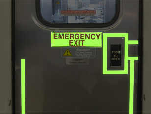 Photo luminescent tape for emergency exits - Firefly Glow